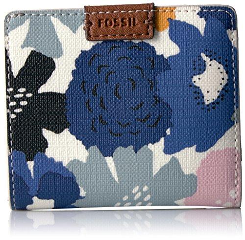 Fossil Emma Rfid Mini Wallet-Navy Floral