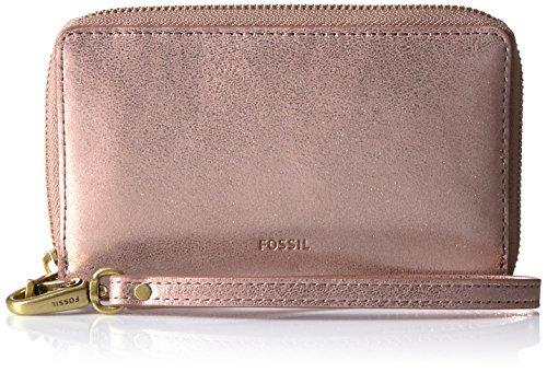 Fossil Emma Rfid Smartphone Wristlet-Rose Gold