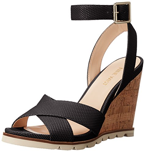 Nine West Women's Gilly Patent Wedge Sandal