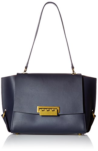 ZAC Zac Posen Eartha Folded Gusset Shoulder Flap-Blue
