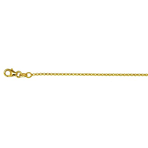 18KT Gold 1.5mm Rolo Chain Necklace
