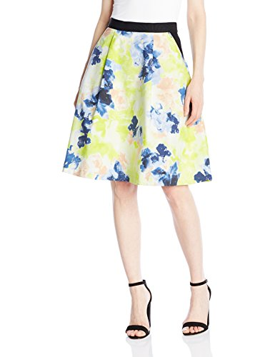 Ellen Tracy Women's Elastic Waist Pleated Skirt