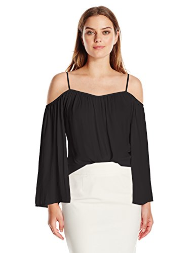 Vince Camuto Women's Cold-Shoulder Rumple Blouse