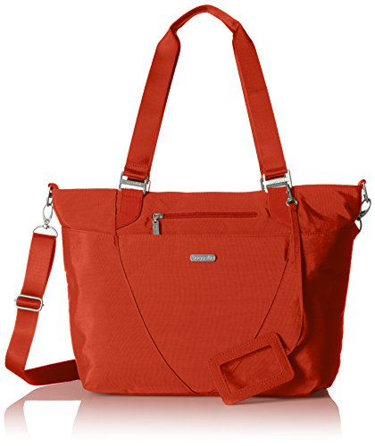Baggallini Avenue Lightweight Tote Bag – Multi-Pocketed, Water-Resistant Travel Purse with Adjustable and Removable Crossbody Strap