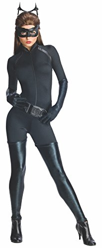 Secret Wishes Dark Knight Rises Adult Catwoman Costume, Black, Medium