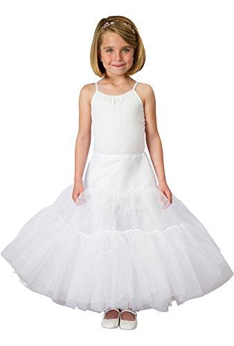 Cinderella Dress Crinoline Petticoat Skirt for Girls Gives Shape to Disney Princess Dress, Poofy White Tulle Slip as Underskirt, Buy for your Fairy, First Communion or Flower Girl Today!