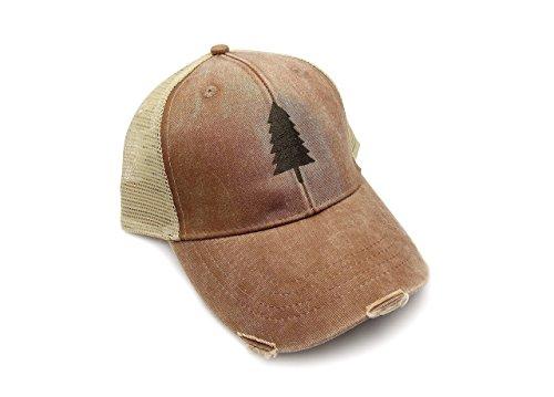 Trucker Hat – Wilderness Area – Adjustable Men's/Unisex Distressed Trucker Hat – 2 Color Options Available