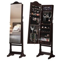 LANGRIA Free Standing Lockable Jewelry Cabinet