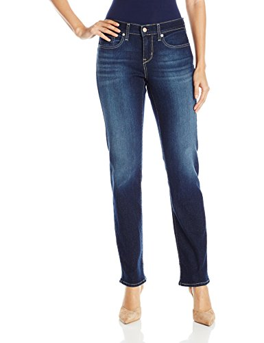 Signature by Levi Strauss & Co Women's Curvy Straight Jeans, Vivacious, 14 Medium