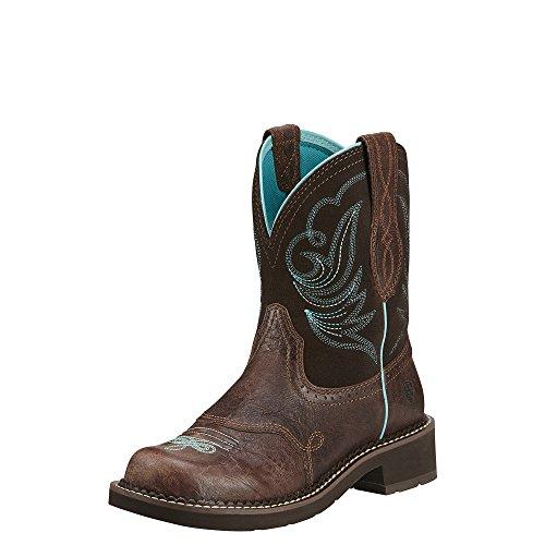 Ariat Women's Fatbaby Heritage Dapper Western Cowboy Boot, Royal Chocolate/Fudge, 8 M US