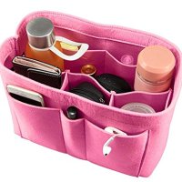 ETTP Felt Insert Bag for Handbag Purse Organizer, X-large, Pink