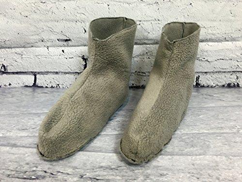 Fleece pyjama/pajama slippers