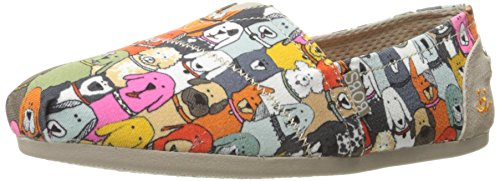 Skechers BOBS Women's Plush-Wag Party Flat, Multi, 6.5 M US