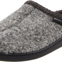 Haflinger Unisex AT Boiled Wool Hard Sole Slipper, Grey Speckle, 40 EU/ 9 M US Women's/7 D US Men