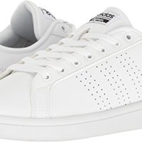adidas Women's Shoes   Cloudfoam Advantage Clean Sneakers, White/White/Black, (8 M US)