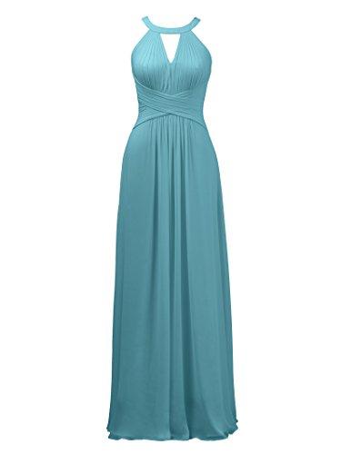 359b88ace65 Alicepub Keyhole Bridesmaid Dress Long Formal Evening Prom Gown For Wedding  Maxi