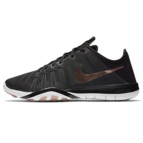 Nike Free TR 6 Women's Cross Training Shoes (8 B(M) US, Black/Metallic Red Bronze/Summit White/Dark Grey)