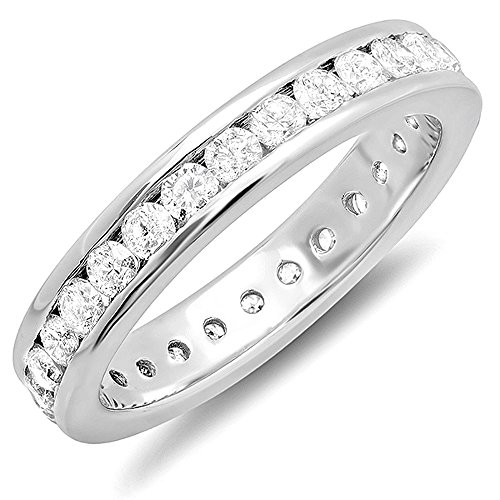 1.75 Carat (ctw) 14k White Gold Round Diamond Ladies Eternity Stackable Anniversary Wedding Band