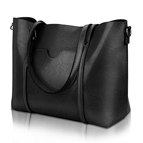 Women Top Handle Satchel Handbags Shoulder Bag Tote Purse Greased Leather Iukio