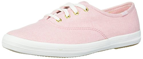 Keds Women's Champion Chalky Canvas Sneaker, Rose Pink, 9 M US