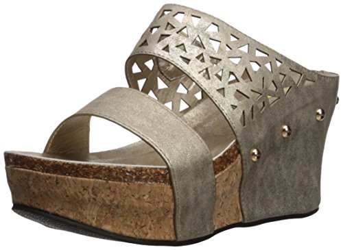 Volatile Women's Bayswater Wedge Sandal, Gold, 8 M US
