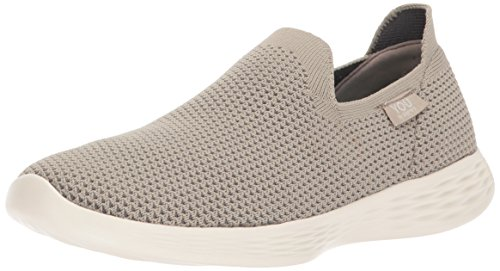 Skechers Performance Women's You Define Sneaker, Taupe, 9 M US