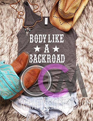 Body Like a Backroad Shirt, Country Music Shirt, Sam Hunt Lyrics Shirt – Slit Tank