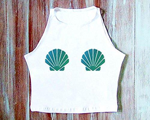 Seashell Mermaid Crop Top-Mermaid Crop Tank-Seashell Yoga Crop Top-Yoga ClothingSeashell Mermaid Crop Top-Mermaid Crop Tank-Seashell Yoga Crop Top-Yoga Clothing