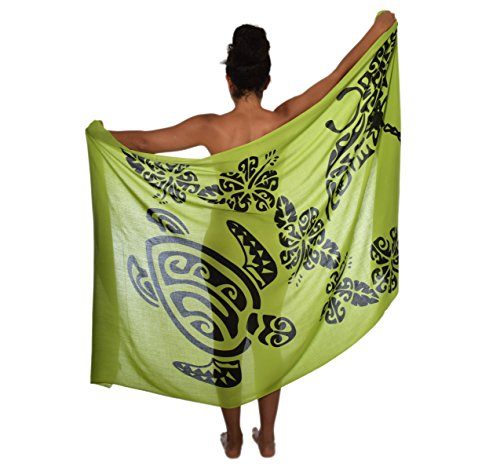 Casual Movements Women's Plus Size Turtle Mantaray Swimsuit Coverup Olive, One Size