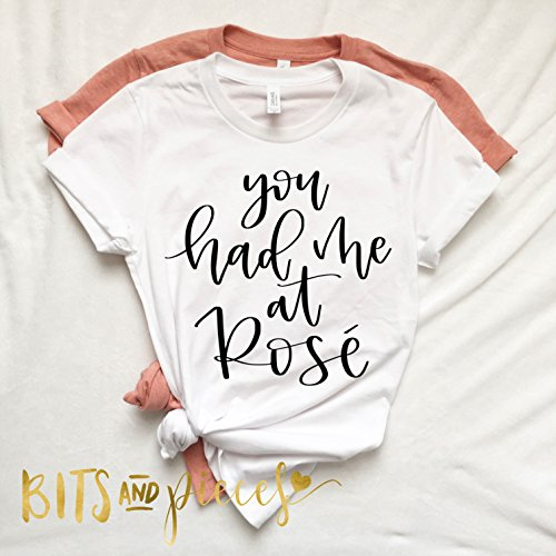 Women's You Had Me At Rose Tank, Women's Shirt, Wine Shirt, Rose Gold, Trendy Women's Shirt, Rose Shirt, Rose, Funny Tank Top,