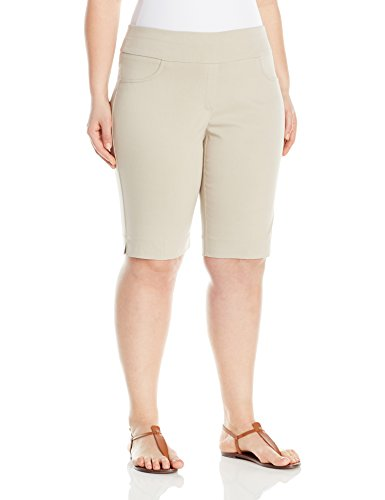 Ruby Rd.. Women's Plus Size Pull-on Solar Millennium Tech Short, Chino, 24W