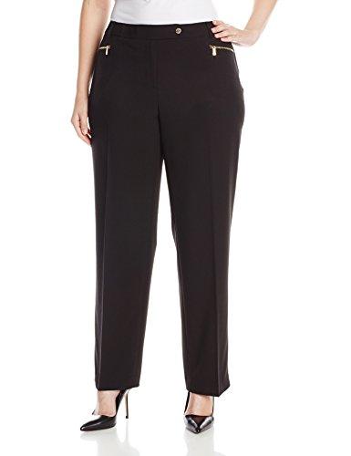 Calvin Klein Women's Plus-Size 3 Pocket Suiting Pant, Black, 20W