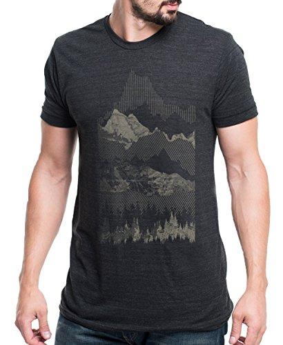 Men's T-Shirt – Geometric Mountain Range- Men's/Unisex Tri-Blend T-Shirt
