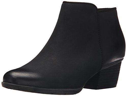 Blondo Women's Villa Waterproof Ankle Bootie, Black Leather, 12 M US