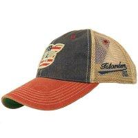 Islanders Pig Face Old Favorite Trucker Hat, American Flag, OS