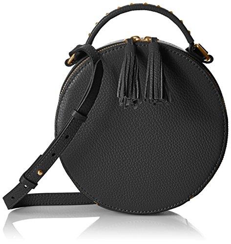 The Fix Hampton 2 Crossbody Leather Circle Bag, Black
