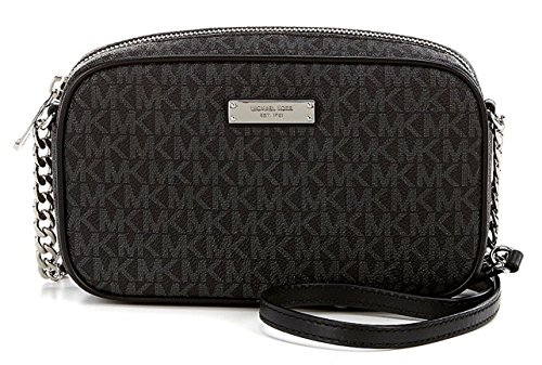 Michael Kors Medium Jet Set Signature Crossbody – Black
