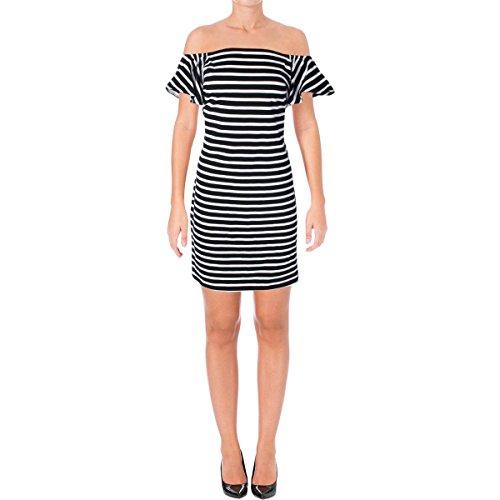 Lauren Ralph Lauren Womens Varsteen Striped Casual Dress Black S