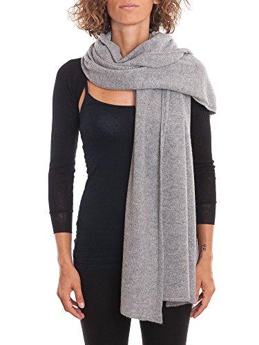 Dalle Piane Cashmere – Stole 100% cashmere – Woman, Color: Grey, One size