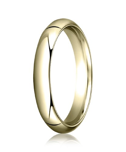 Womens 14K Yellow Gold, 4.0mm High Dome Heavy Comfort-Fit Ring (sz 8.5)