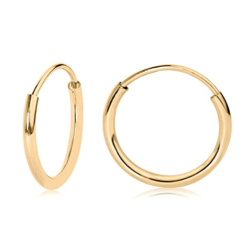 14k YG Endless Hoop Earrings 10mm 41100
