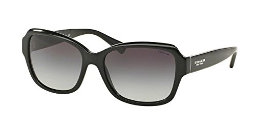 Coach Women's HC8160 Sunglasses Black/Light Grey Gradient 56mm