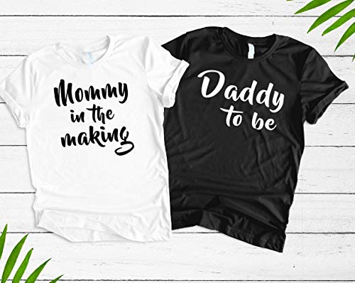 Couples Pregnancy Announcement Shirts, Pregnancy Reveal Shirts, Mommy In The Making T-Shirt, Daddy To Be Shirt, Baby Reveal Party