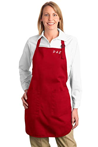 Embroidered Apron – Set of One (1) | Personalized with Name | Port Authority Full Length Apron | Perfect for professionals, cooks, chef, mother, father, housewife, boyfriend, girlfriend, grandparents