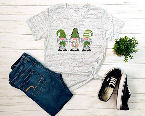 gnomes with horseshoe and clover st patricks day shirt – gnomes st patricks day shirt – st pattys day shirt – gnome