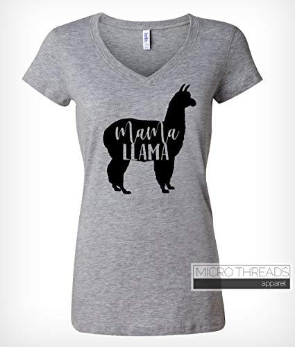 Mama Llama – Women's VNeck TShirt – Mom Shirt