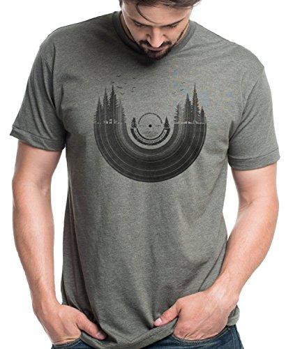 Men's T-Shirt – Vinyl Record Forest – Men's/Unisex Tri-Blend T-Shirt