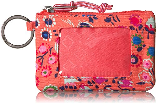 Vera Bradley Women's Lighten Up Zip Id Case, coral meadow