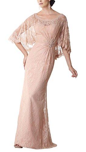 Yangprom Graceful Column Cape-Like Sleeves Mother of The Bride/Groom Dress (12)