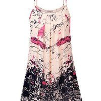 WAJAT Women's Summer Casual Spaghetti Strap Sundress Sleeveless Beach Slip Dress M Pink